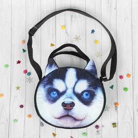 """Soft toy-bag """"Husky"""" black spout"""