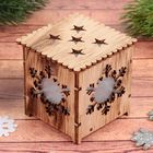 """Decor with lights """"snowflake"""", batteries included"""