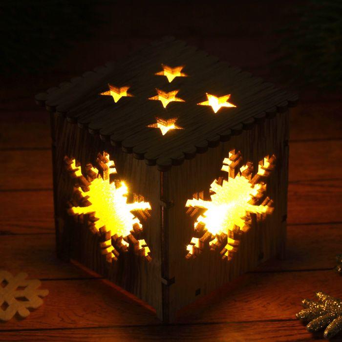 """Декор с подсветкой """"Снежинка"""", батарейки в комплекте"""