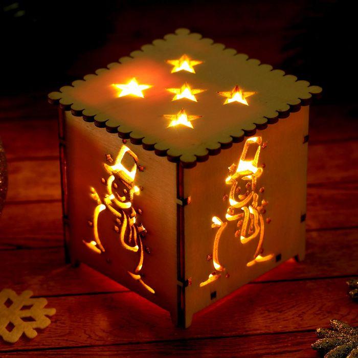 """Декор с подсветкой """"Снеговик"""", батарейка в комплекте"""