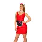 """Карнавальный костюм """"Горничная"""", 3 предмета: ободок, фартук, повязка на шею, цвет чёрный"""