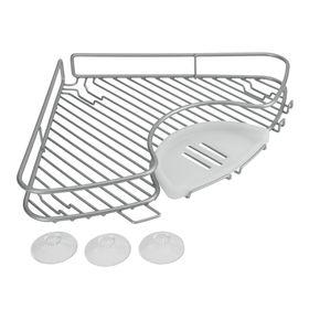 Угловая полка для ванной, размер 29 х 29 х 4см