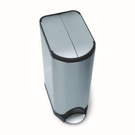 Бак для мусора Simpelehuman, 30 л, с педалью, прямоугольный, крышка-бабочка 2722230