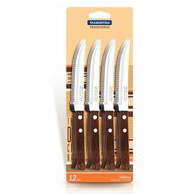 Нож для мяса Tramontina Tradicional, лезвие 12,5 см, сталь AISI 420, деревянная рукоять