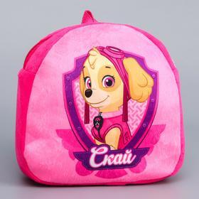 Щенячий патруль. Рюкзак детский плюшевый «Скай», 24,5 x 24,5 см