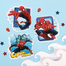 Stickers for children in the bath in the Super Hero set Spider-Man (3pcs set).