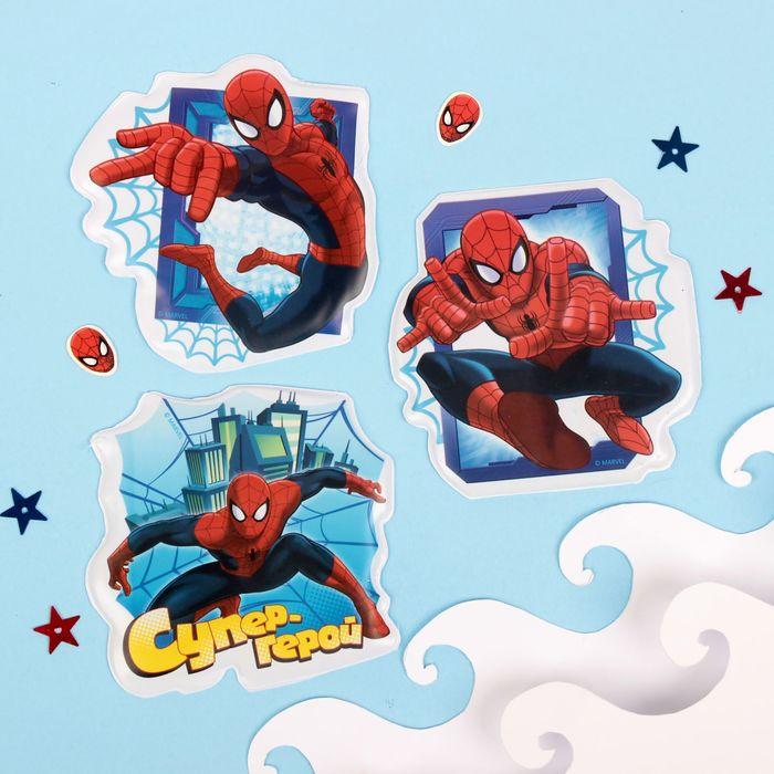 """Наклейки детские в ванну в наборе """"Супер-герой"""" Человек-паук (набор 3шт)"""