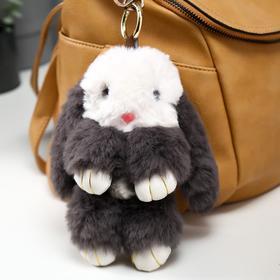 """Подвеска на кольце """"Крольчонок серо-белый"""" 18 см"""