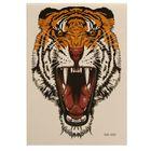 """Татуировка на тело """"Рычащий тигр"""" 25х14,5 см"""