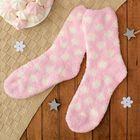 """Носки махровые со стоперами """"Горошек"""", размер 19-23, цвет розовый/белый"""