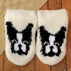 """Носки махровые """"Французский бульдог"""", размер 19-23, цвет белый"""