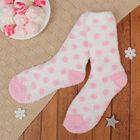 """Носки махровые со стоперами """"Горошек"""", размер 19-25, цвет белый"""