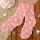 """Носки махровые со стоперами """"Горошек"""", размер 19-25, цвет розовый"""