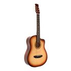 Акустическая гитара 6-ти струнная, менз. 650мм., струны металл, головка без пазов
