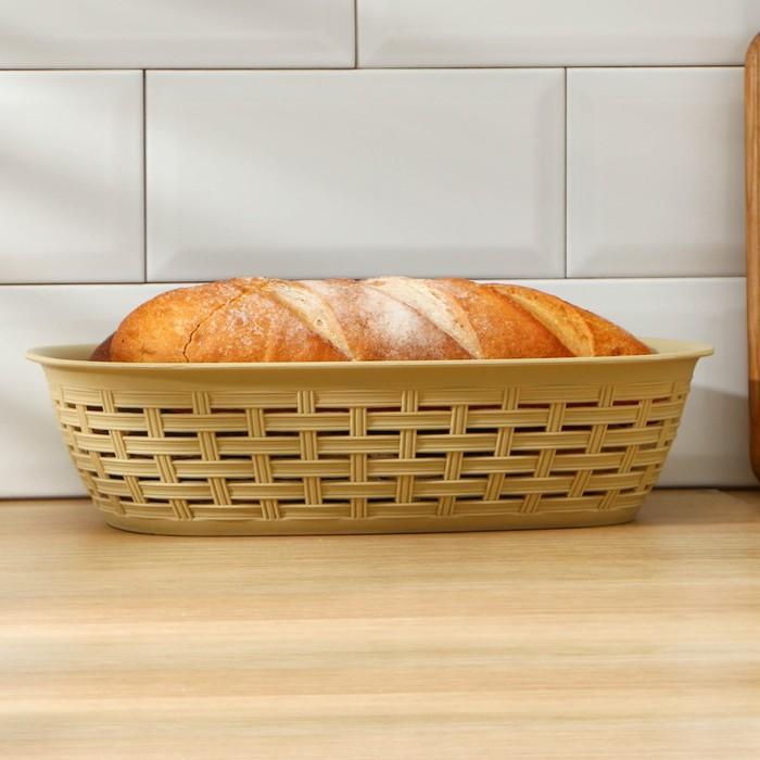 Хлебница плетеная 3 л, цвет МИКС