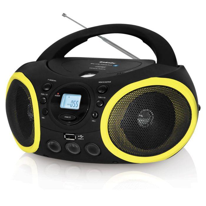 Магнитола BBK BX 150 BT, USB -порт, MP3, CD-DA, WMA, LCD дисп. черн/желтый