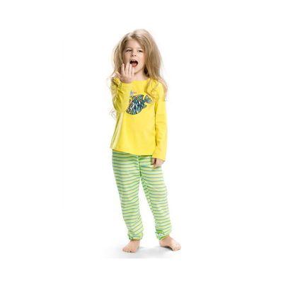 Пижама для девочек, рост 92 см, цвет жёлтый