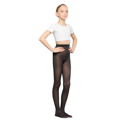 Колготки детские для танцев Liza, 40 ден, рост 98-110, цвет чёрный