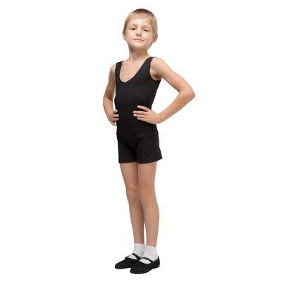 Майка борцовка гимнастическая х/б, размер 28, цвет чёрный
