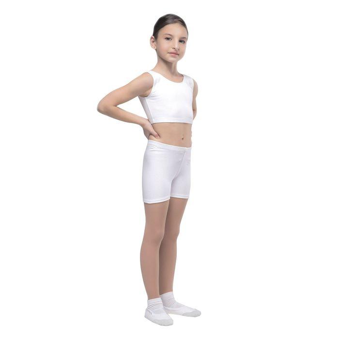 Топ гимнастический, размер 28, цвет белый