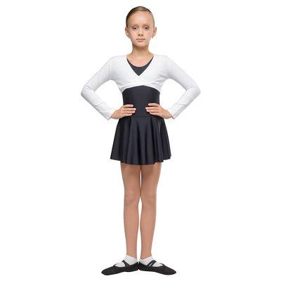 Топ детский разогревочный с длинным рукавом, размер 34, цвет белый