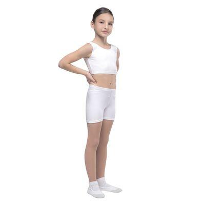 Шорты гимнастические, размер 34, цвет белый