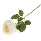 """Цветок искусственный """"Роза Леонардо"""" 9*8*55 см, белая"""