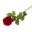 """Цветок искусственный """"Роза Пилгрим"""" 9*10*60 см, бордовая"""