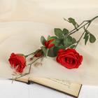 """Цветок искусственный """"Роза Тайгер"""" 9*65 см, красная"""