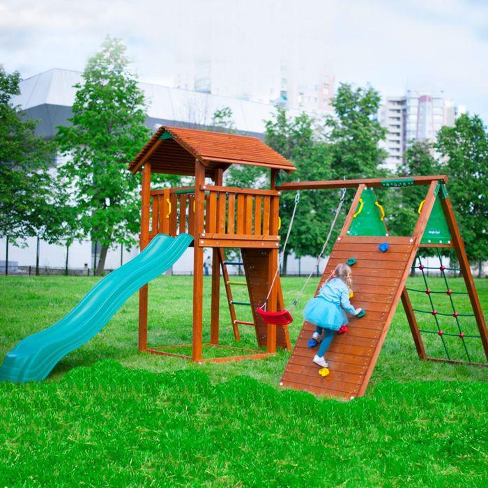 """Детский городок """"Jungle Cottage + Climb Modul Xtra"""" +1 стандартное сиденье"""