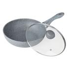 Сковорода ВОК 30 см SILVER MARBLE BK-7910