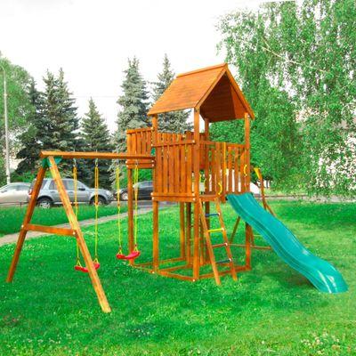 "Детский городок ""Jungle Palace + SwingModule Xtra""+ 2 стандартные сидушки"