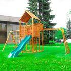 """Детский городок """"Детские городки Jungle Palace + Swing X'tra + рукоход с гимнастическими кольцами""""+"""
