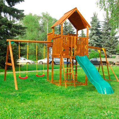 """Детский городок """"Детские городки Jungle Palace + Swing X'tra + рукоход""""+ 2 стандартные сидушки   254"""
