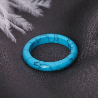 Ring smooth Turquoise 6 mm