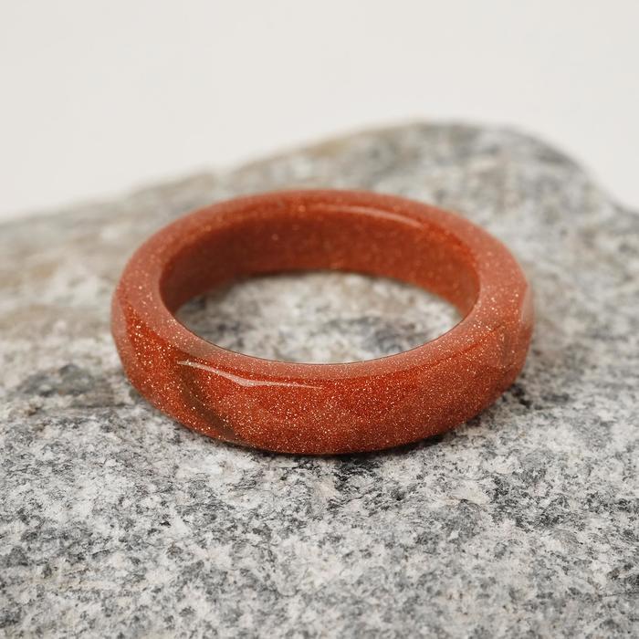 Кольцо гранёное ''Авантюрин коричневый'' 6мм 2719681