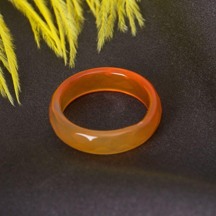 """Кольцо гранёное """"Сердолик"""" 6мм, 307"""