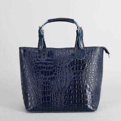 Сумка женская на молнии, 1 отдел, наружный карман, цвет синий