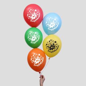 "Balloon ""Congratulations"", 10"", set of 5 PCs"