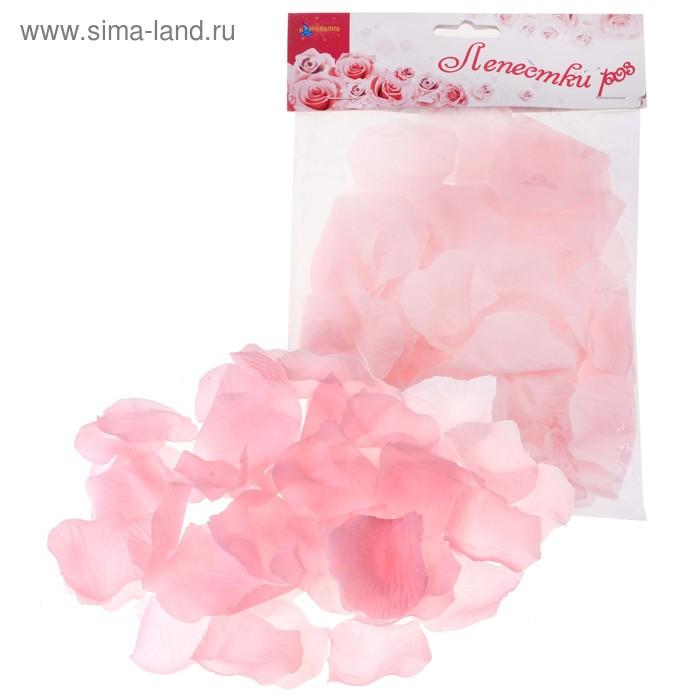 Лепестки роз, цвет розовый
