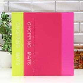 Набор досок разделочных гибких с разлиновкой Доляна, 2 шт, 37×30 см, цвет МИКС