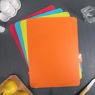 Набор досок разделочных прямоугольных гибких 37х28 см, 4 шт, цвета МИКС