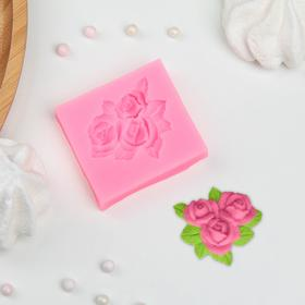 """Silicone mold is 5.5×5 cm """"Bouquet of roses"""""""