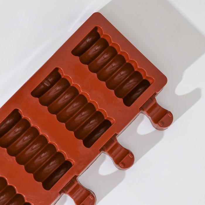 """Форма кондитерская для леденцов и мороженого 39×11,5 см """"Моника"""", 8 ячеек, цвет МИКС"""