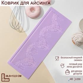 {{photo.Alt || photo.Description || 'Коврик для айсинга Доляна «Готичный узор», 36,5×13,5 см, цвет МИКС'}}