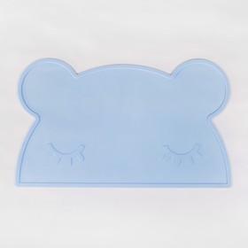 Силиконовый коврик подкладной, для кормления, антискользящий «Мишка», от 5 мес.