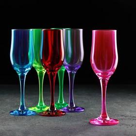 Набор бокалов для вина «Радуга», 290 мл, 5 шт, МИКС, УЦЕНКА
