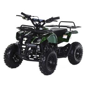 Квадроцикл детский бензиновый MOTAX ATV Х-16 Мини-Гризли с Механическим стартером, зеленый камуфляж Ош