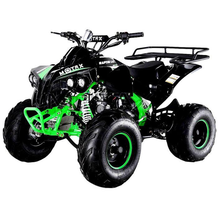 Квадроцикл бензиновый MOTAX ATV Raptor LUX 125 сс, черно-зеленый