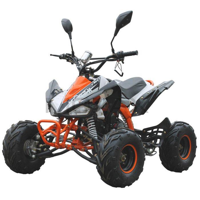 Квадроцикл бензиновый MOTAX ATV T-Rex LUX 125 cc, бело-оранжевый